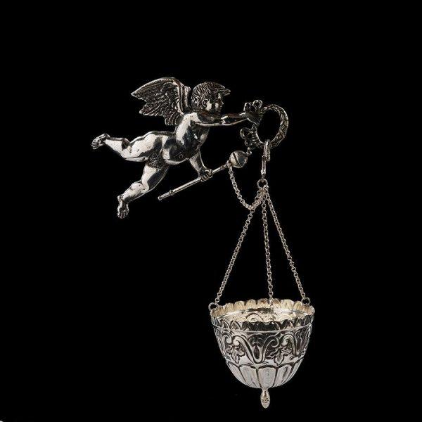 Acquasantiera in argento art. 851