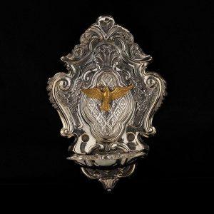 Acquasantiera in argento art. 852