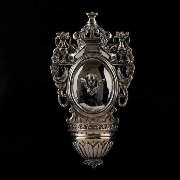 Acquasantiera in argento art. 853/B