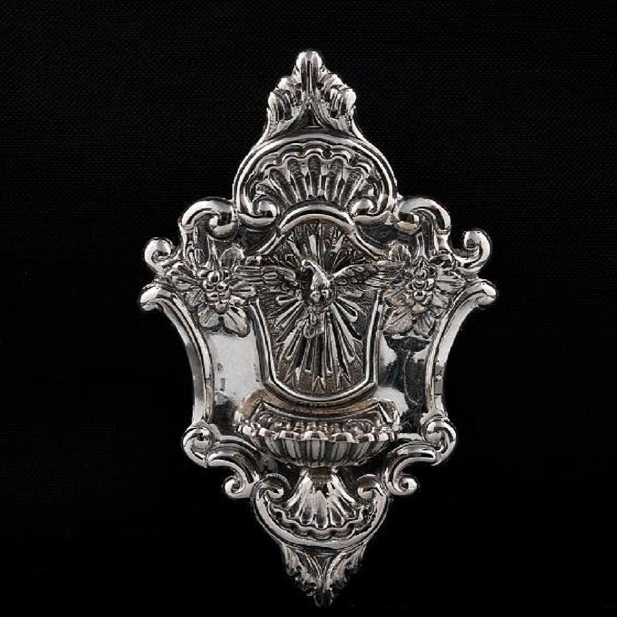 Acquasantiera in argento art. 854