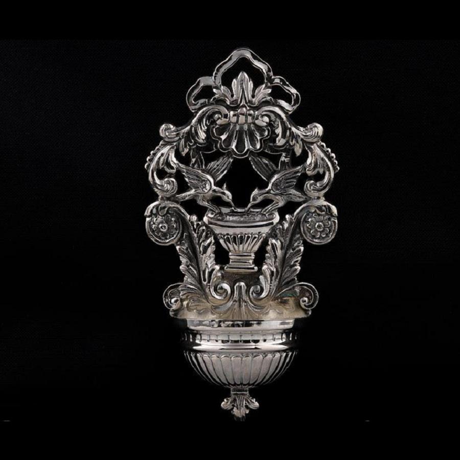 Acquasantiera in argento art. 855
