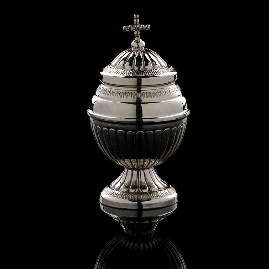 ampolla in argento per olio sacro art. 755
