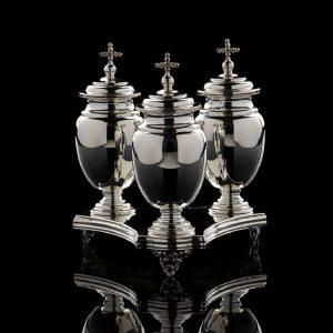 Ampolle in Argento per olio e vassoio art. 756, art 804