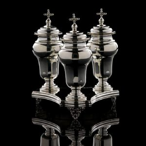 Silver Ampoules for Holy Oils art. 757 and Tray art. 804
