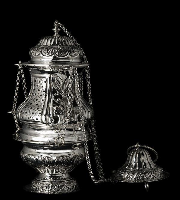 Produzione incensiere in argento